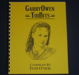 LIBBIE CUSTER 7th Cavalry GARRY OWEN Tid Bits #1 INDIAN WARS Military