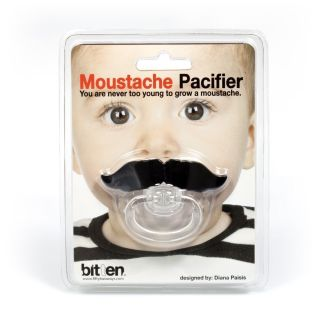 Moustache Pacifier Novelty Baby Dummy Fun Toy Funny Baby Gift