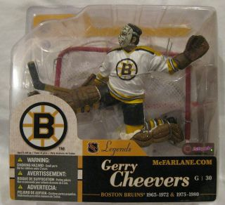 McFarlane Gerry Cheevers NHL Legends Series 1 White Jersey Variant