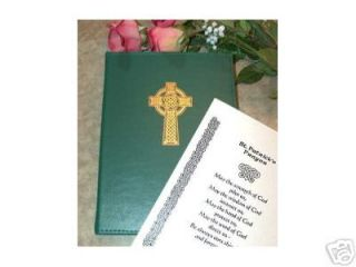 Irish Funeral Guest Register Book Celtic Cross Cover