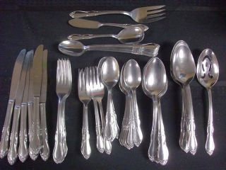 SIMEON L GEORGE H ROGERS CO STAINLESS HOMESTEAD ONEIDA LTD FLATWARE 77