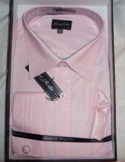 George Martin Shirt Tie Handkerchief Set Italian Design XL 17 17 1 2
