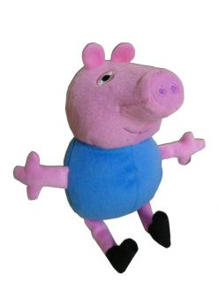 George 8 Plush Blue Peppa Pig Little Brother Soft Doll Cartoon TV