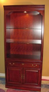 Thomasville Furniture Collectors Cherry Bookcase Curio