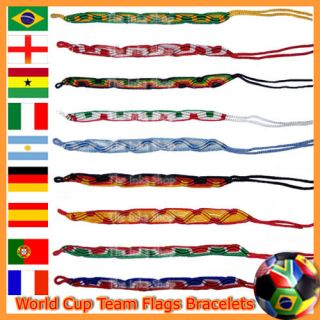 World Nation Country Flag Colors Sport Bracelet Wristband Handmade