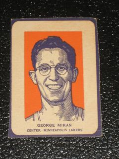 1952 Wheaties George Mikan  Minneapolis Lakers   ex/mt