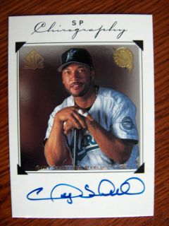 Gary Sheffield 1998 SP Authentic Auto Florida Marlins