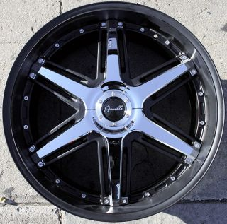 Gianelle Steep 6 24 Black Rims Wheels Dodge Magnum V6