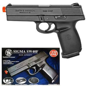 Smith Wesson Sigma SW40F Green Gas Airsoft Hand Gun Pistol 383 FPS