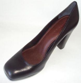 Gianni Bini Reagan 001 Leather Womens Shoes Black Heels 10