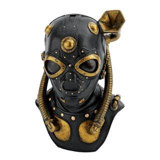 Steampunk Gas Mask Statue Industrial Mechanically Techno Victorian