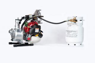 Honda GX25 Water Pump Propane LP & GAS powered 1 30gpm