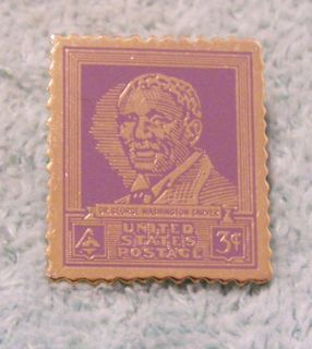 Dr George Washington Carver United States Postage 3 Cent Stamp Pin
