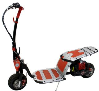 Troy bilt tb2sc 27cc 2 stroke gas powered 100 mph hand for Gas powered motorized scooter