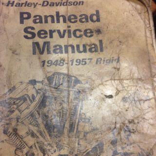 Panhead Service Manual 1948 1957 Rigid Harley Davidson