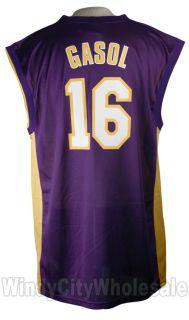 Lakers Los Angeles Pau Gasol Jersey Adidas NBA New XXL