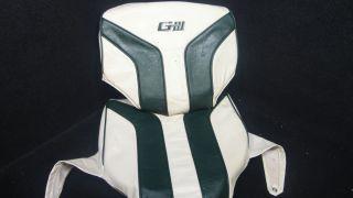 GIII GREEN WHITE BASS PONTOON BOAT SEAT COVER CUSHIONS K I 38