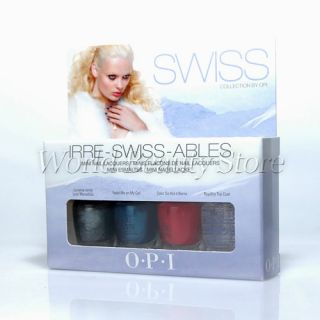 ISS ABLES SWISS Collection Mini 4 pc Set Holiday Special Gift Polish