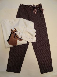 The Bailey Boys Houndstooth Pants and Long Sleeve Horse Shirt Sizes 5