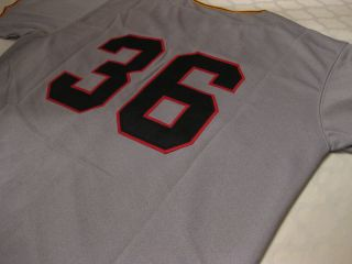 Gaylord Perry #36 San Francisco Giants 1962 Road Gray Throwback Jersey