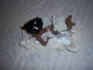 Geppeddo Playtime Series Jesse Black Porcelain Baby Doll Beautiful