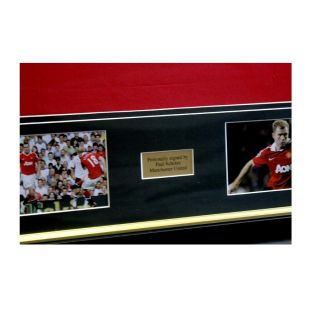 Framed Ryan Giggs Paul Scholes Signed Manchester United Shirts