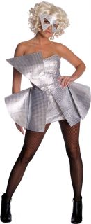 Lady Gaga Costume Silver Sequin Dress s Small 6 to 10