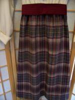 Vtg 1970s Gail Gray School Girl Shirt Waist Plaid Skirt One Piece
