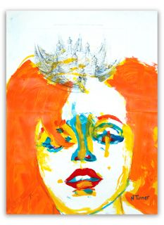 Original Marilyn Monroe Portrait Expressionist Painting