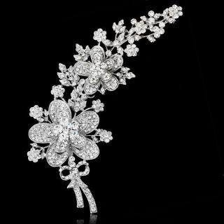 Party Rhinestone Clear Gemstone Brooch Pin Swarovski Crystal