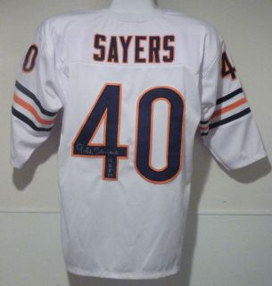 Gale Sayers Autographed Signed Chicago Bears White Poly Size XL Jersey