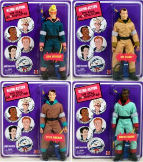 Real Ghostbusters Set of 4 Retro Action Figures Egon Peter Ray Winston