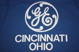 vtg 80s GE Cincinnati Ohio t shirt * GENERAL ELECTRIC * thin
