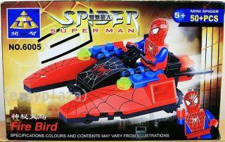 Spiderman 6005 6006 2 x Sets Building Blocks Bricks Set Spider Man Toy