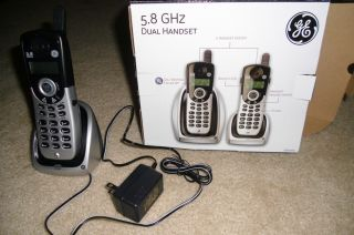 General Electric 5 8 GHz Dual Handset Telephone System