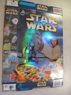 General Mills Star Wars Cereal Empty Box 2002