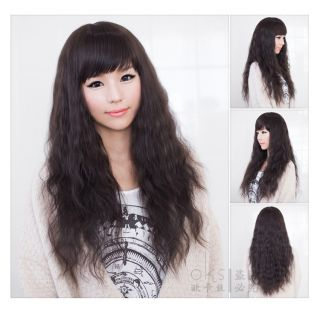 New Style Womens Girls Sexy Long Fashion Full Hair Wig 3 Colors