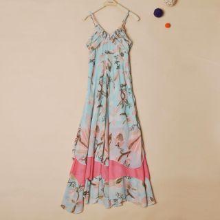 Hot H M HM Bohemian Maxi Floral Long Chiffon Gisele Dress