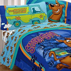 Scooby Doo Mystery 4 Piece Twin Single Size Comforter Sheet Set