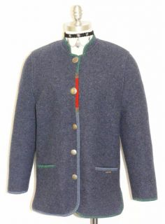 Giesswein Boiled Wool Austria Blue Coat Sweater 38 10 M
