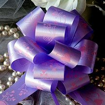 10 Lavender Lilac 8 Pull Bows Gift Ribbon Party Shower Wedding Pew