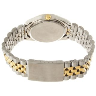 New Geneva Platinum Mens Two Tone Silver and Gold Watch