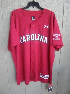 Under Armour Baseball Jersey Large National Champions Gamecocks