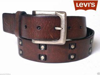 Levis Mens Leather Belt Brown Width 1 5 40 mm Sizes 30 34 42