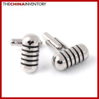 items details gent s stainless steel cufflinks capsule shape c2901