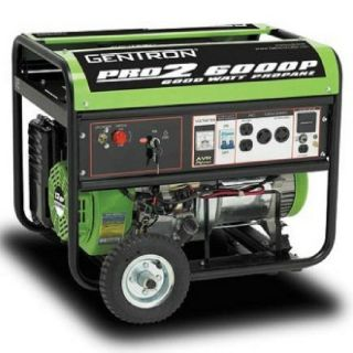 Gentron 6000 Watt Portable Propane Generator Electric Start 5000