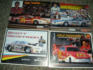 nhra promo lot 4 scott geoffrion cruz pedregon jim yates pro stock