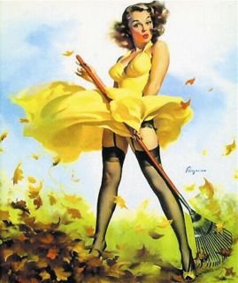 Sexy Gil Elvgren Pinup Girl Mouse Pad Fresh Breeze Hot