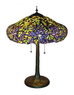 Laburnum Styled Tiffany Style Stained Glass Table Lamp