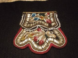 New York Great Lakes Native American Beaded Purse 13 types Glass beads